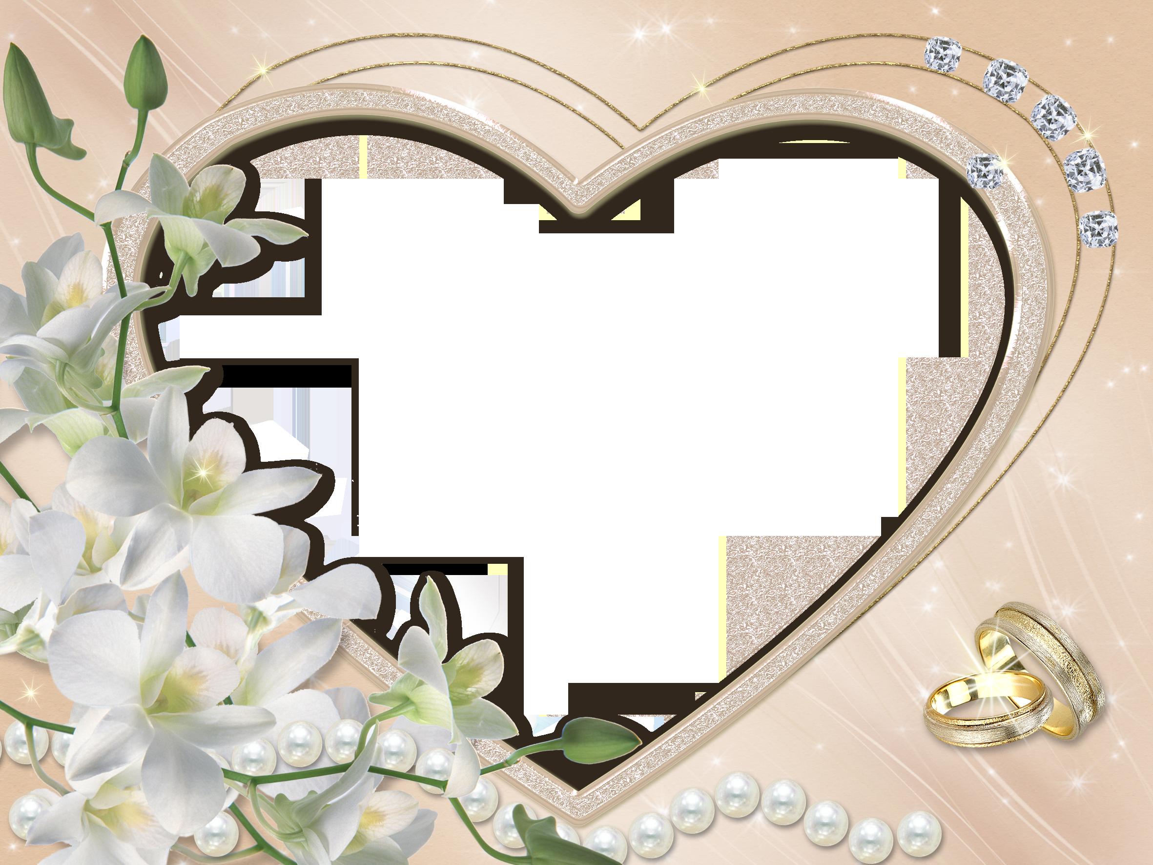 Рамка свадебная для открытки